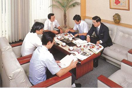 1970年(昭和40年)代の営業会議の様子